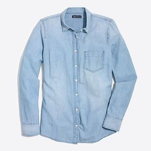 J. Crew Cotton Chambray Perfect Shirt